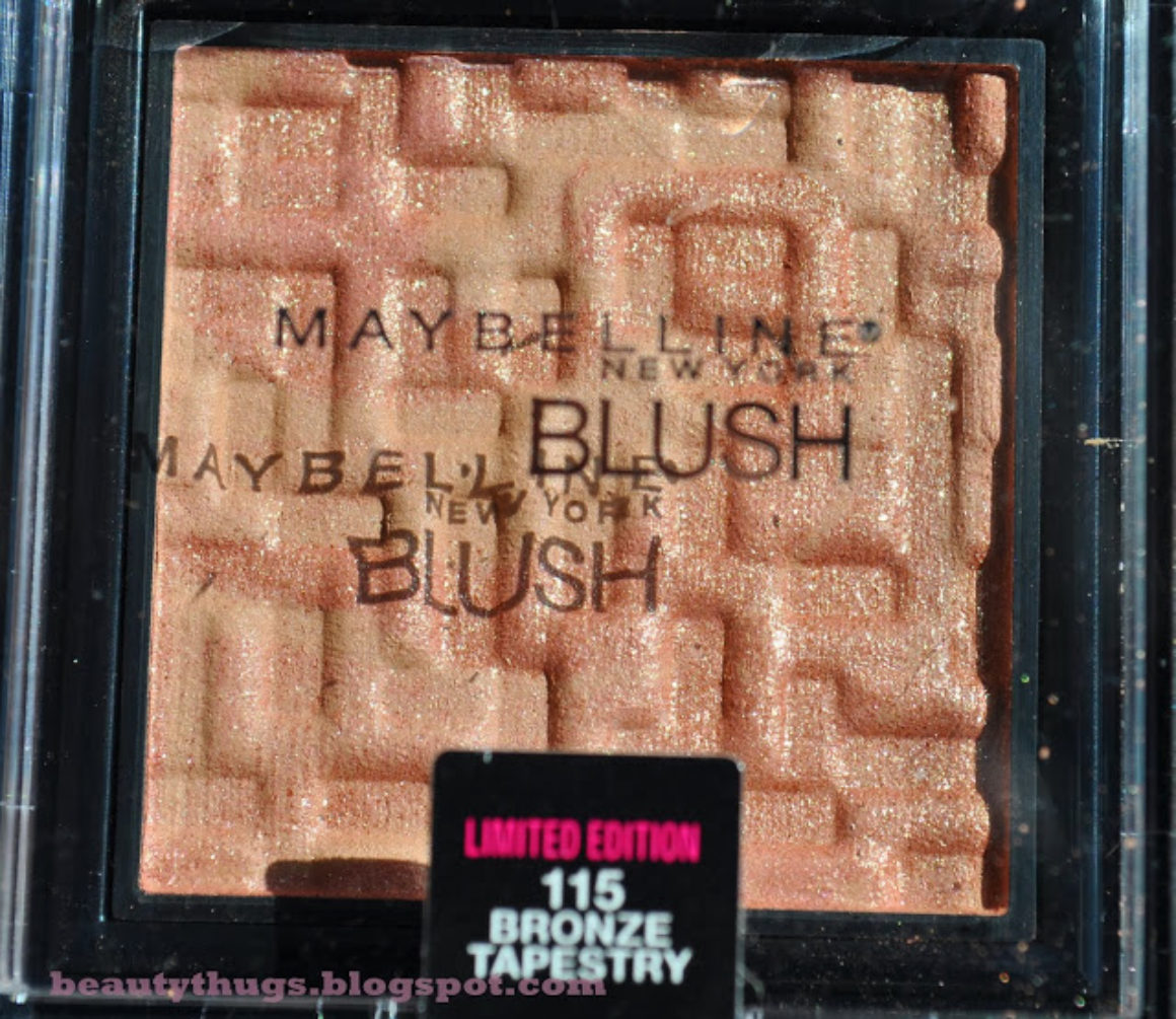 SWATCHED: Maybelline Limited Edition Bronze Tapestry Blush