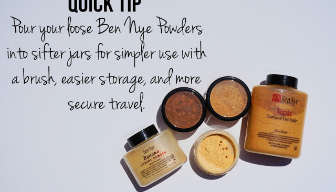 Quick Tip: Repackaging Ben Nye Powders