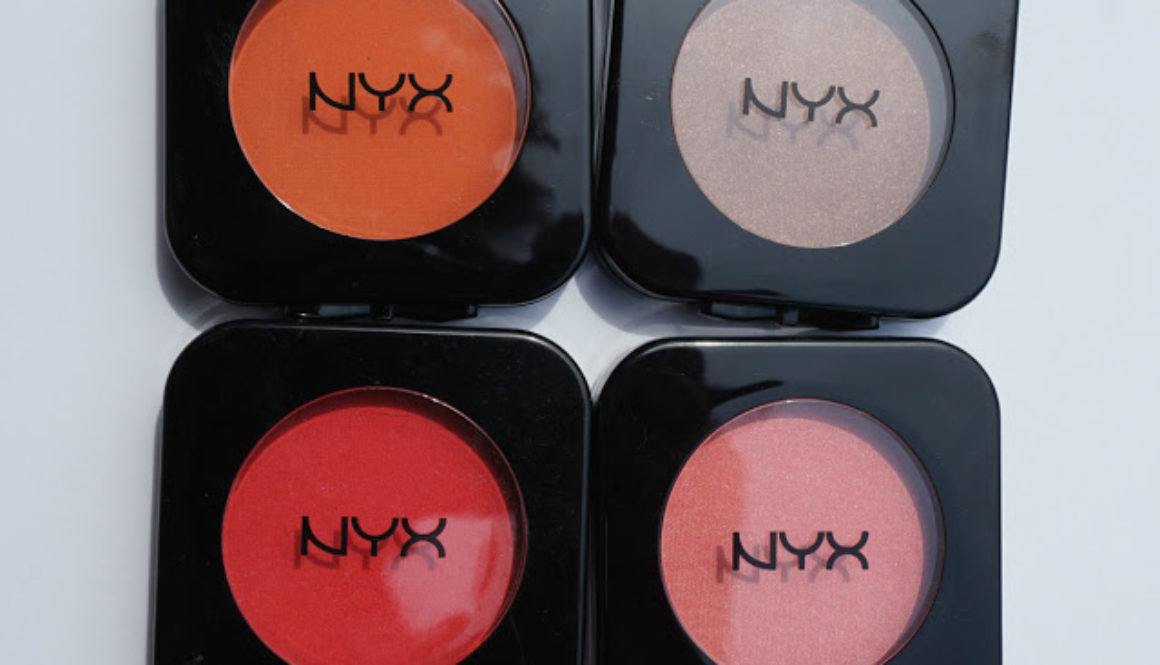 Review: NYX HD Blushes in Double Dare, Beach Babe, Crimson, and Summer