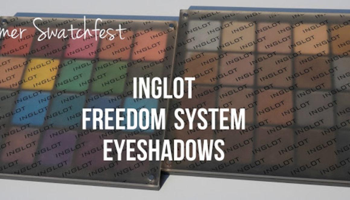 """Summer Swatchfest: Inglot Freedom System Eyeshadows """"Neutrals"""""""