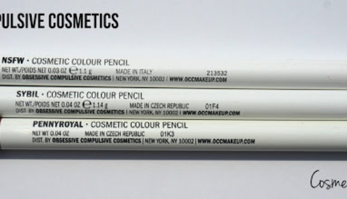 Quick Review: OCC Cosmetic Colour Pencils in NSFW, Sybil & Penny Royal