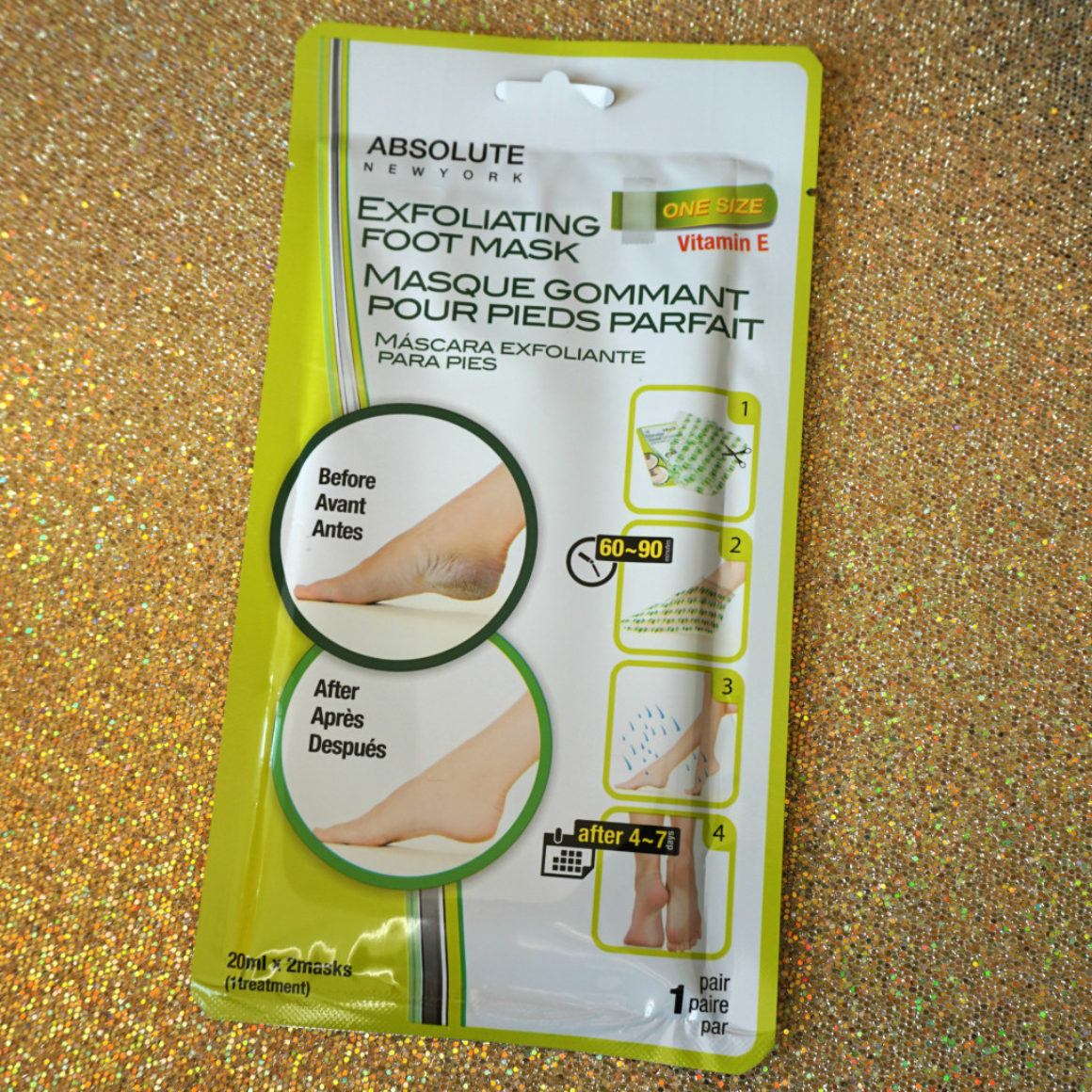 Review: Absolute New York Exfoliating Foot Mask