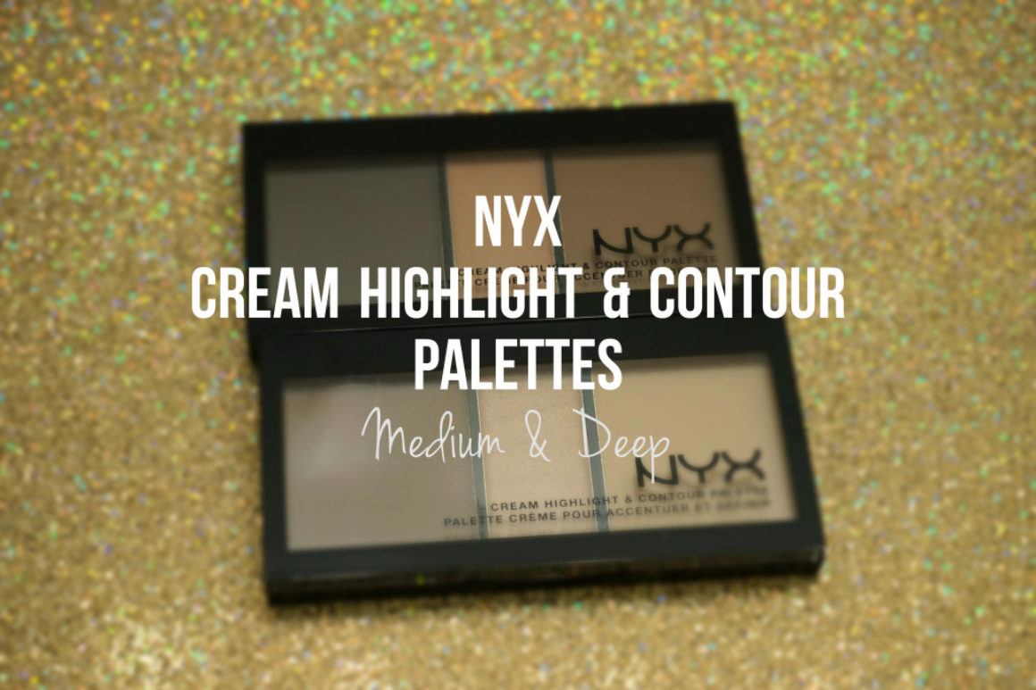 Swatched: NYX Cream Highlight & Contour Palette in Medium & Deep