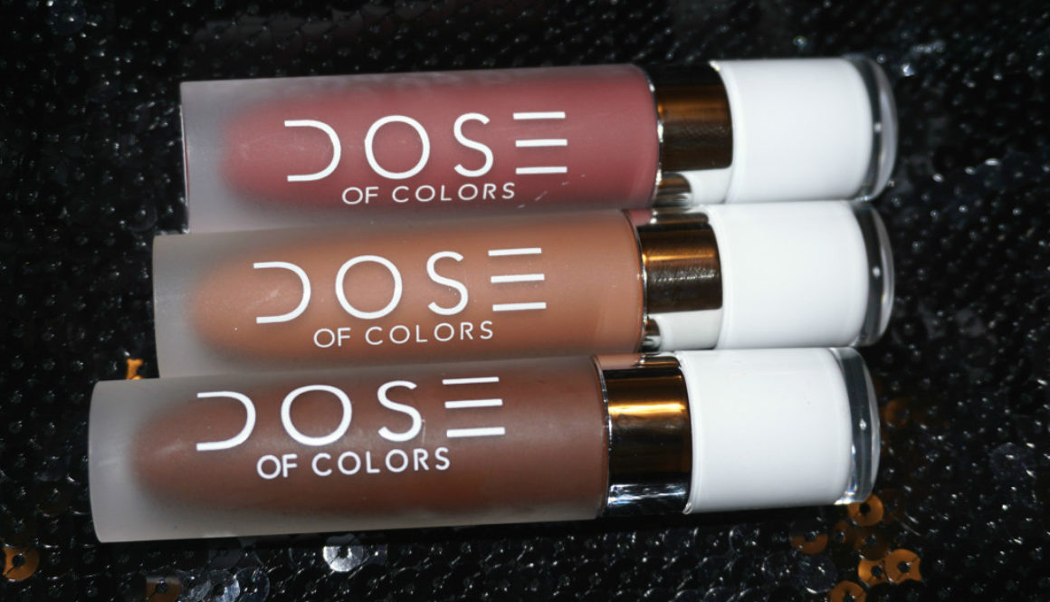 Quick Review: Dose of Colors Liquid Lipsticks in Mood, Cork, and Chocolate Wasted