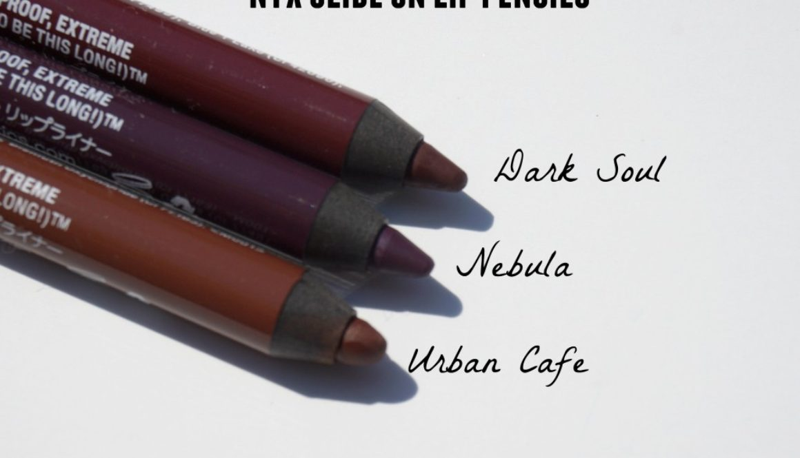 Friday Quickie: NYX Slide On Lip Pencils in Dark Soul, Nebula, and Urban Cafe