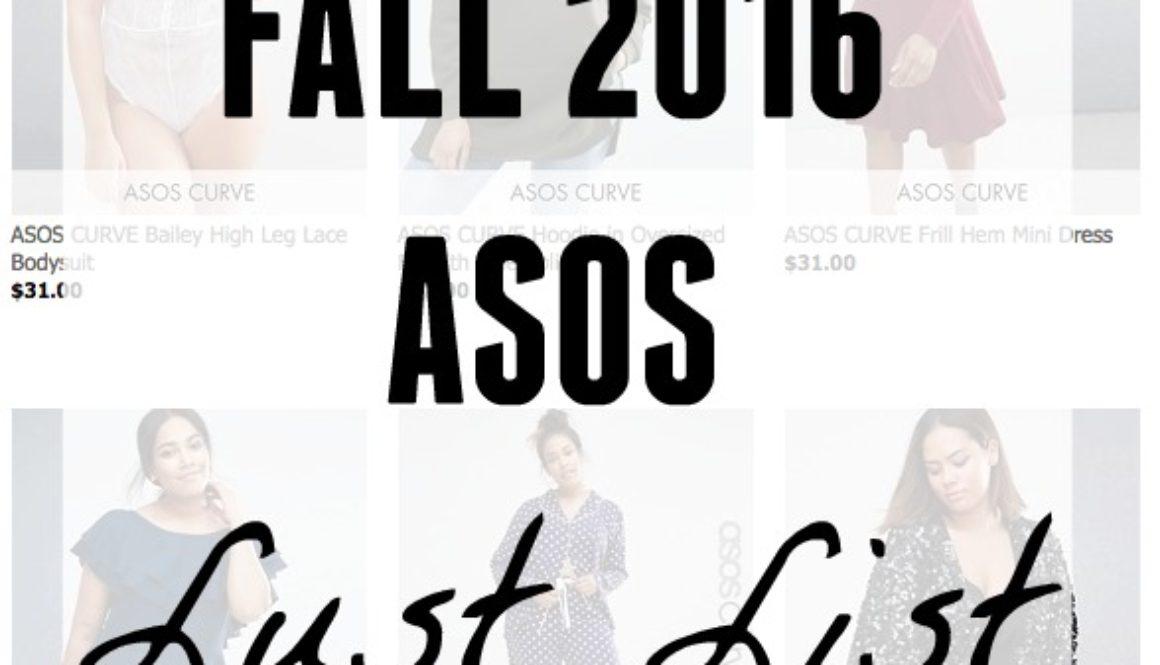Lust List: ASOS Fall 2016