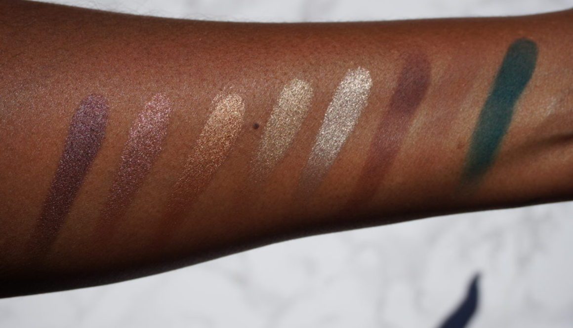 Swatched: Cozzette Eyeshadows Mattes and Crystals